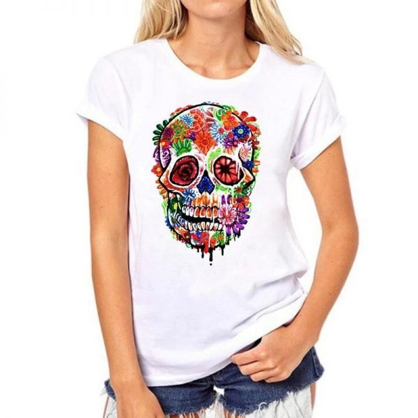t shirt head of dead skull mexican women 3xl buy