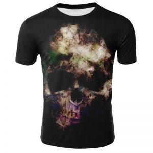 t shirt head of dead skull shadow 3xl