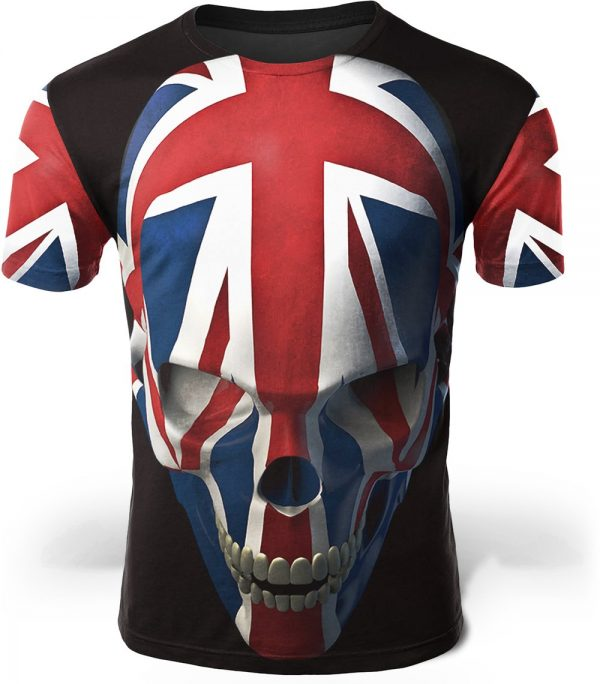 t shirt head of dead union jack 4xl tee shirt head of death