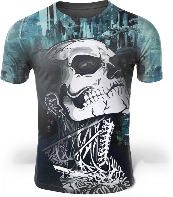 t shirt head of dead zombie boy 4xl at sell