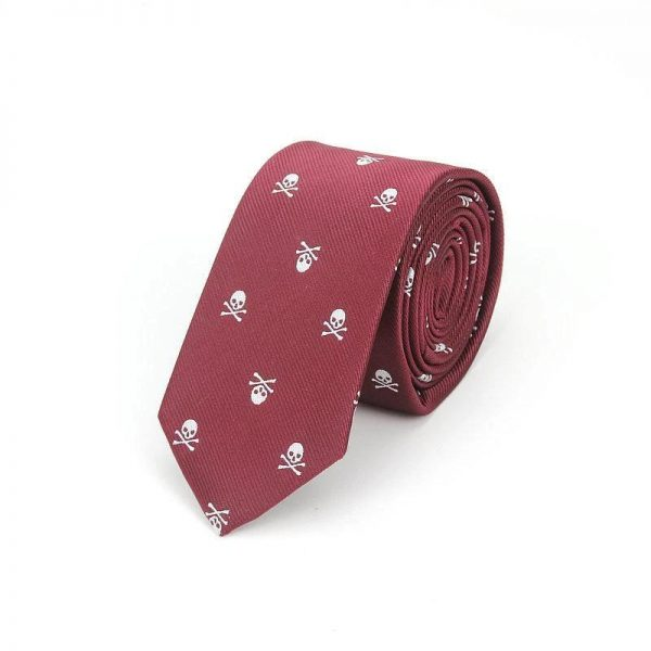 tie head of dead red bordeaux