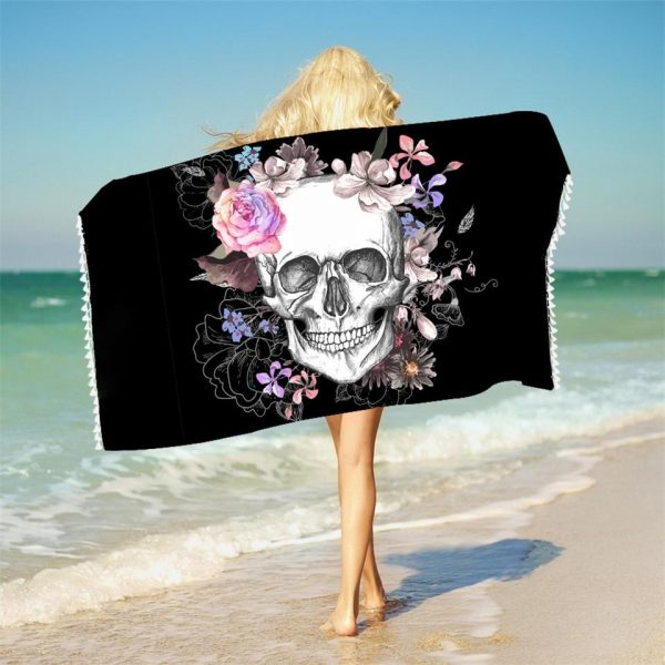 towel of beach head of dead design skulls lover accessory head of death