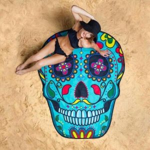 towel of beach head of dead mexican skull kingdom