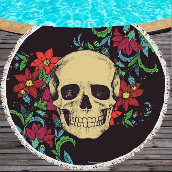 towel of beach head of dead original women skull kingdom