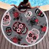 towel of beach head of dead skull mexican red price