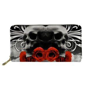 wallet head of dead roses evil skull kingdom