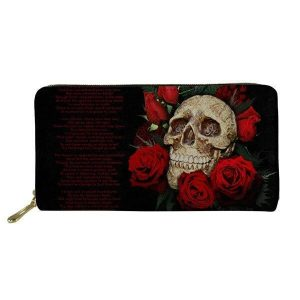 wallet head of dead skull flowery skull kingdom