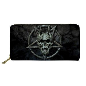 wallet head of dead skull satanic wallet head of death