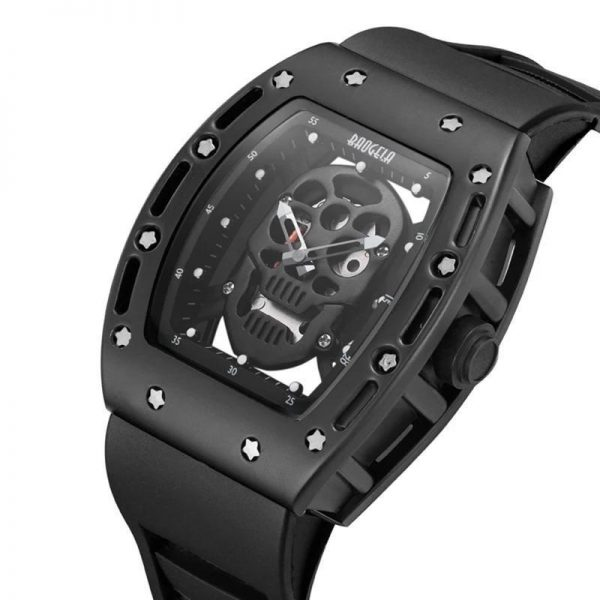 watch head of dead skull metal black gold price