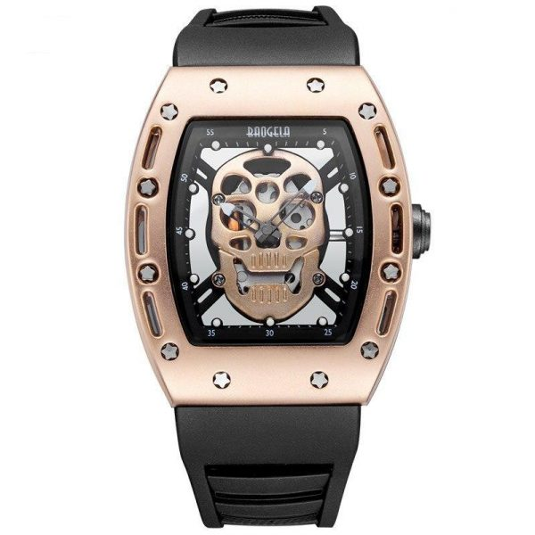 watch head of dead skull metal black or