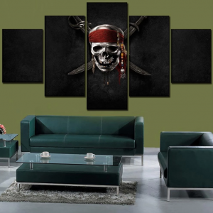 board head of dead pirates of caribbean format xxl with frame